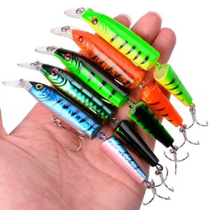 Minnow Fishing Lure 105Mm 9G Multi Jointed Section Bend Hard Bait Wobbler Swimbait Lures Carp Fishing Tackle Pesca 8 Colors wkhbt