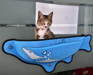 Forma creativa pez ventosa gato nido de vidrio Gatos Ceramic Tile cama colgante Moda duradero alimentos para mascotas dd nueva llegada 63dg