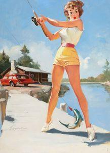 Gil Elvgren Pin Up Girls Home Decor Handbemalte HD-Druck-Ölgemälde auf Leinwand-Wand-Kunst-Leinwandbilder 200215