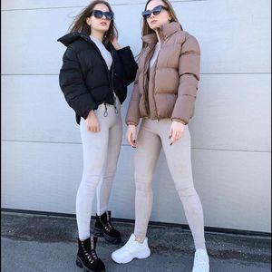 FORERUN 패션 버블 코트 솔리드 표준 칼라 대형 짧은 재킷 겨울 가을 여성 복어 자켓 파카 Mujer 2019 V191022