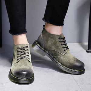 Dólar de plata de la alta ayuda de calzado masculino Inglaterra Brida Martin botas posterior del varón del cuero del ante Desert Boots Taobao