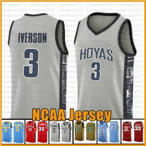 3 Айверсон NCAA Basketball Джерси Джорджтаунского университета штата Аризона Вефиль Irish High School 23 Джеймс 2 Леонард 3 Wade 11 Irving 30 Curry