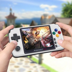 New PocketGo Retro Game Console, 3.5inch IPS screen portable player PG2, Game Handheld Save Game Progress PS1 SNES NPG