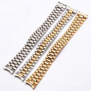 Homens Mulheres 13 milímetros 17 milímetros 20 milímetros de aço Brands Prata inoxidável pulseiras Strap Substituir Para DATEJUST relógio Rolex Pulseira Pulseira