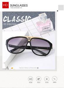 Nuevas gafas de sol de marca europea y americana. Gafas de sol hd de moda para hombres y mujeres con gafas de sol de montura grande.