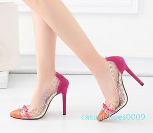 Hot Sale Patchwork Red Bottom High Heels Rivets Studded Shoes Sexy Women Pumps size 35 to 40 c09