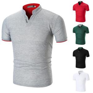 Slim Slim Polo Casual Style Jugendliche T-Shirts Sommer Herren Designer Poloshirts Modische Einfarbig Stehkragen