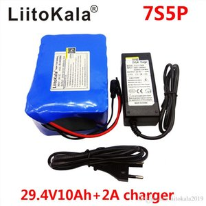 LiitoKala 24V 4ah 6ah 8ah 10ah 12ah battery pack 15A BMS 250w 29.4V 10000mAh battery pack for wheelchair motor electric power Sold by Liitok