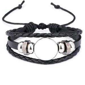 Bracelets de corde pour Sublimation Fashion Bracelet blanc bijoux pour impression par transfert thermique New Style 2018 Bijoux en gros J190620