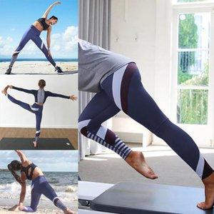 Kadın koşucu Spor Tozluklar Pantolon Yüksek Bel Lady İnce Spor Çizgili Elbise Pantolon