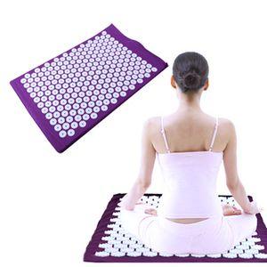Массажер коврик матрас боль облегчить точечный массаж подушка коврик снимает стресс, спина, и седалищный боли Relif массаж для тела,ног