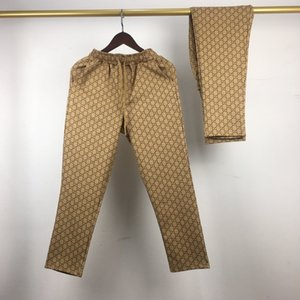 20SS Nouveau luxe GUC design classique pleine impression vieux logos fleurs Pantalons Hommes Femmes sport mode Jogger Sweatpants extérieur Pantalons 7.31