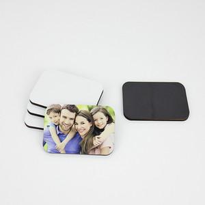 7 * 5 * 0.4cm MDF Bois Magnets Sublimation Blanks Autocollants Réfrigérateur personnalisé en bois aimant