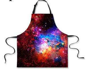 3D Sternenklarer Himmel-Schutzblech-Frauen-Schutzblech-Küchen-Restaurant, das Geschäft-Kunstwerk-Schutzblech-Sleeveless Kellner-Schürzen kocht