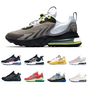 Nike air max 270 airmax Stock X Travis Scott Cactus Jack Trails 270 React ENG Mens Running shoes Royal Blue Blackened Blue 270s Men women sports designer sneakers 36-45