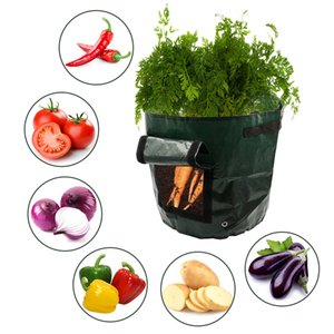 6Pieces Reusable Garden Potato Grow Bags With Handles Flap For Carrot Onion