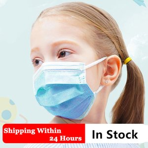 Children Breathing Face Masks Earloop Blue Kids Respirator Washable Mouth Masks Disposible Dustproof Mask Protective Masks