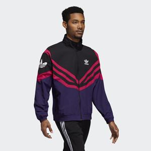 Designer Langarm Herren Jacken Active Style Brand Sportwear Windbreaker mit Zipper Striped Weiß Schwarz Luxus Jacken Großhandel iiceea