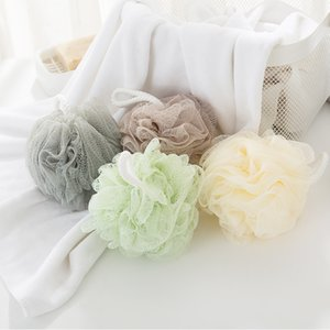 Quality Pure Color Big Bath Ball Bath Sponge Body Shower Cleaning Bath Flowers Head Body Shower Cleaning Foaming Mesh Net Loofah