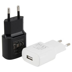 USB настенное зарядное устройство EU Plug 5V 2A Home Travel Adapter для универсального смартфона для Samsung S8 Android телефона 100 шт.