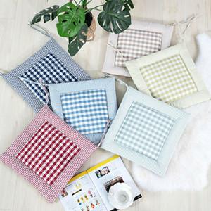 Textiles para el hogar Tipo de patrón geométrico principal Comedor interior Oficina Cocina Almohada Asiento de ratón Lazo Silla En-Square