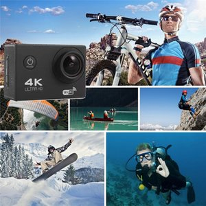 Drop shipping RF 2.4 Remote Control 4K 30FPS Sport DV H12R 30M Waterproof Action Camera WIFI Control 2.0'' Display Sport Camera 6-color DHL
