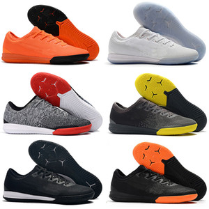 kapalı futbol ayakkabıları Mercurial VaporX VII Pro TF IC cr7 futbol ayakkabıları erkek futbol krampon Superfly cıva chuteiras de futebol