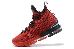 20 colori disponibili 2018 Nuovo arrivo Che le scarpe da basket Lebron 15 Lebron XV EP KS2A arancione Legend BHM Equality