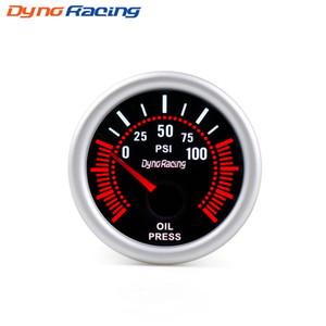 Dynoracing 2 '' 52 millimetri universale fumo Lens Oil Pressure Gauge 0-100PSI 12V LED con olio Premere Sensore Car Gauge