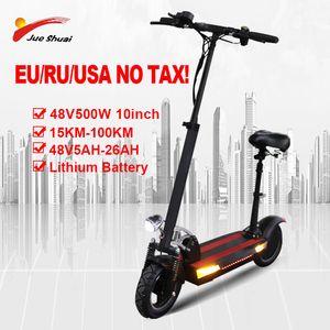 500W 48V 10inch Adult Elektroroller mit optionalem Akku und Sitz hochklappbar elektrisches Skateboard Escooter trotinette Electrico