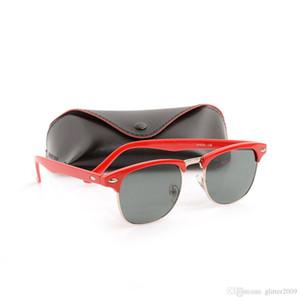 10 ШТ. Классические черные мужские солнцезащитные очки Унисекс Солнцезащитные Очки Клуб Модные женские Солнцезащитные Очки Марка Дизайнер Sun glassess брендов с чехлами и коробками