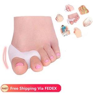 2pcs=1Pair Gel Foot Care Tool Bunion Corrector Bone Big Toe Protector Hallux Valgus Straightener Toe Spreader Pedicure