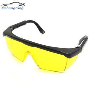 Gzhengtong 1pc Yellow Automotive Air Conditioning Leak Detector Glass UV Protection Adjustable Glasses