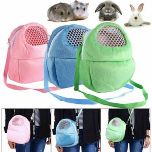Pequeño conejo portador del animal doméstico jaula de hámster Chinchilla bolsas de viaje calientes Jaulas Guinea Pig lleva la bolsa bolsa transpirable