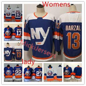 Womens NY Islanders Mathew Barzal Jersey Lady cucita 22 Mike Bossy 27 Anders Lee 13 Mathew Barzal Islanders Jersey S-3XL