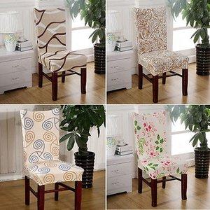 Съемные Цветочные Stretch Короткого Столовой Стул Стул Обложка чехлы отпечатанного Flat Pad
