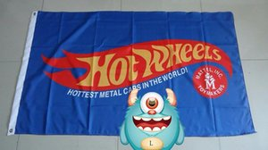 hot wheels blaue Flagge für Service, Hot Wheels Autofahne, 90x150cm Größe, 100% polyster100% Polyester 90 * 150cm, Digitaldruck