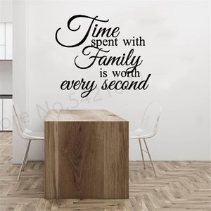 Time Spent With Family Wall Quote Decal Family Love Quotes Stickers Wall Lettering Decals Wall Decor for Living-room, Bedroom