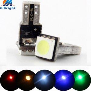 100PCS / 500PCS T5 12V LED 1 SMD 자동 차 웨지 악기 대시 보드 DASH 조명 인테리어 램프 전구 화이트 블루 레드 황색 녹색