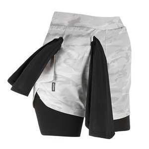 Мужские шорты 2 в 1 повседневные открытые короткие брюки беговые тренировки тренажерный зал быстросохнущие фитнес шорты карманы камуфляж пляжные брюки