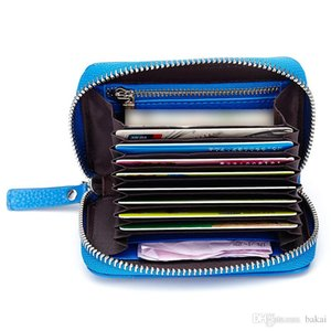 Top layer organ type card pack women's real pickup clip zipper pocket