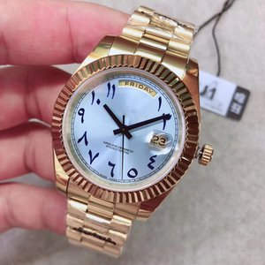 U1 Factory ST9 Ice Blue Arabic Dial Day Automatic Date Movement 40MM Men Watch Watches 316L Stainless Steel Bracelet Steel Mens 228238 Wristwatches