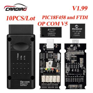 10PCS Lot Opcom V1.99 V1.78 V1.7 V1.65 OP Com Can OBD2 for Firmware Op-com CAN BUS Interface obd2 Diagnostic tool DHL Ship