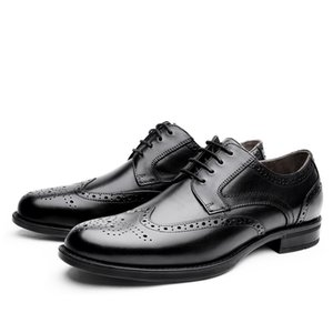 Fabricante al por mayor de cuero genuino Derby Fashion Mens Dress Shoe Business Classic Formal Handmade 2019