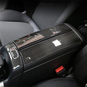 In fibra di carbonio Center Console bracciolo Pannello di decorazione della scatola di adesivi per Mercedes-Benz Classe B W247 GLB 2020 Accessori Interni