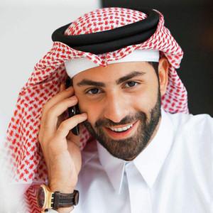 Velo musulmán envuelto en velo de Arabia Saudita, Emiratos Árabes Unidos de Dubai gira aros de velo 135 * 135cm