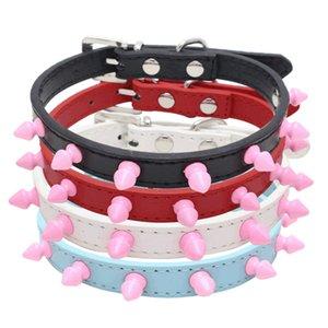 New Hot Dog chaîne avec des pointes à la main Colliers de chien fer pourpre Kaulapanta rose clouté harnais pour chien Chaîne Garden2010