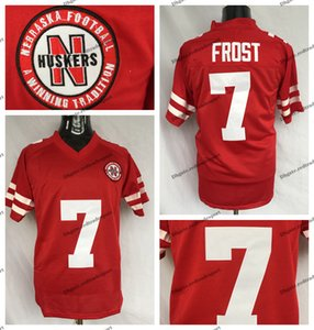 Mens Scott Frost Nebraska Huskers College Football Maglie economici # 7 Scott Frost Stitched University Maglie da calcio S-XXXL