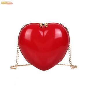 Women Zipper Love Heart Shaped Crossbody Bags Sweet Girls Shoulder Bag Ladies Evening Handbags Purse For Party Wedding P