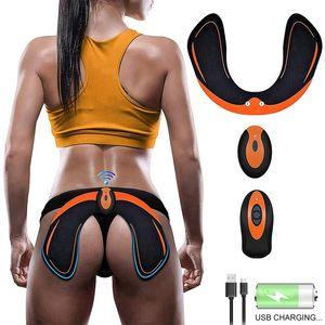 EMS Hip Trainer Butt Тоник с Intelligence System помогает поднять Форма и твердого тела Массажер для женщин Фитнес с пультом дистанционного управления